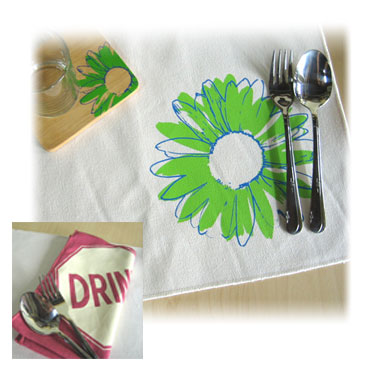 hand printed cotton art dining art placemat