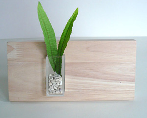 アクリル ケース、ゴム木 パネル、インテリア用品 art display casing or vase, rubber wood panel with acrylic casing