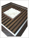 framed decorative items, bali sandstone designed with special frame, comes with woodern background