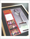 frame for medals and awards, double glaze, transperant 2 layer of glass