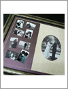 classy antique frame for black and white wedding photo