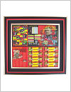 manchester united coins collection, shadow box frame
