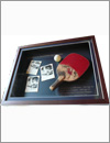 table tennis, memory, father, photo, shadow box frame